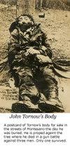 Postcard of John Tornow's corpse
